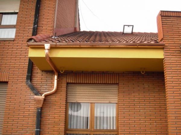 Canalones de cobre instalacion de canalones arreglo de - Canalon de cobre ...